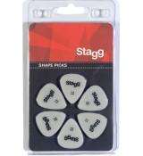 Stagg SPSTD X6-0.60 - kostki gitarowe