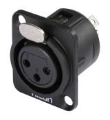 Hicon HI-X3DFG - wtyk XLR do montażu