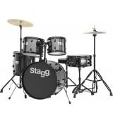 Stagg TIM 120 BK - akustyczny zestaw perkusyjny