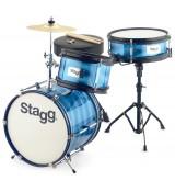 Stagg TIM JR 3/12B BL - akustyczny zestaw perkusyjny