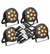 LIGHT4ME PENTA PAR 8x12W MKII RGBWA LED slim SET1