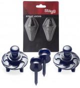 Stagg SSL-1-BK - straplocki z blokadą