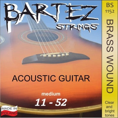 Bartez Strings BS1152 Acoustic Guitar - struny