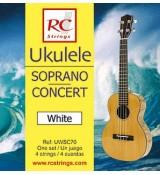 RC Strings UWSC70 Ukulele Soprano-Concert set. White - Struny do Ukulele