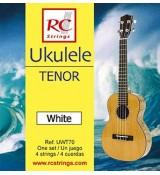 RC Strings UWT70 Ukulele Tenor set. White - Struny do Ukulele