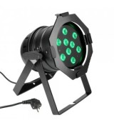 Cameo Light PAR 56 CAN - 9 x 3 W TRI Colour LED PAR Can RGB in black housing, reflektor sceniczny LED