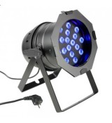 Cameo Light PAR 64 CAN - 18 x 3 W TRI Colour LED PAR Can RGB in black housing, reflektor sceniczny LED