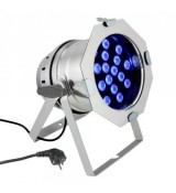 Cameo Light PAR 64 CAN - 18 x 3 W TRI Colour LED PAR Can RGB in polished housing, reflektor sceniczny LED