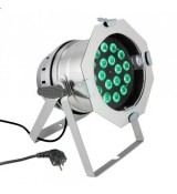 Cameo Light PAR 64 CAN - 18 x 8W QUAD Colour LED PAR Can RGBW in polished housing, reflektor sceniczny LED