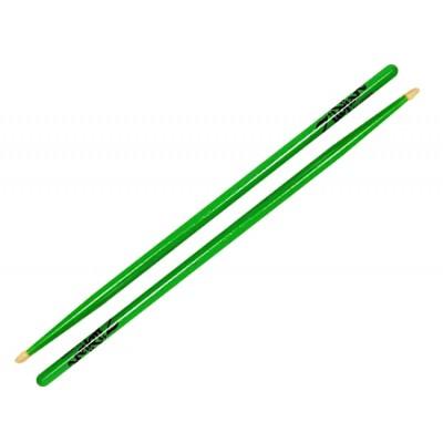 Zildjian zielone pałki 5A Acorn Neon Green 5ACWDGG