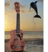 Ukulele sopranowe z delfinami