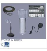 Studio w domu zestaw HSMC-001W + HSMA-201 + M-802USB + XA-214 + PRZEWÓD XLR 6m