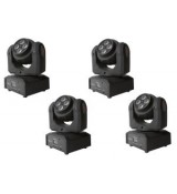 FRACTAL 4-PACK DOUBLE LED SPOT 10W 4x