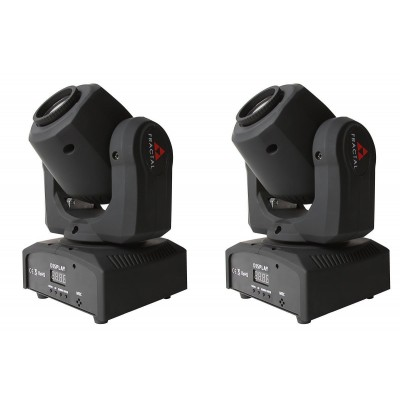 FRACTAL MINI LED GOBO SPOT 10 W DUAL PACK