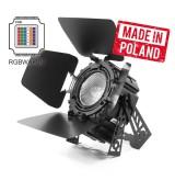 LED PAR 64 300W 6w1 SHORT COB RGBWA UV + BARNDOOR Mk2