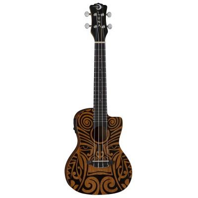 Luna Uke Tribal C EL - ukulele koncertowe