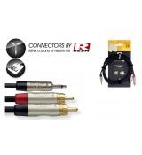 Stagg NYC3/MPS2CM R - kabel instrumentalny 3m